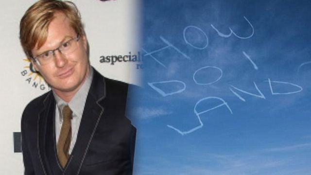 News video: What Was This Comedian Trying to Write in the Sky?